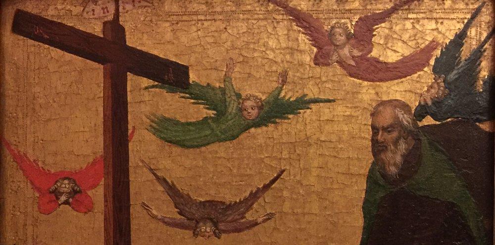 Neznani Silker,  Oplakivanje , 14-15 Century, in the Strossmayer Gallery of Old Masters, Zagreb (photo by RYC)