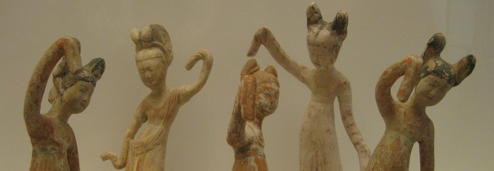 Five Attendants, from the Tang Dynasty, in the Guimet Museum, Paris (photo RYC)
