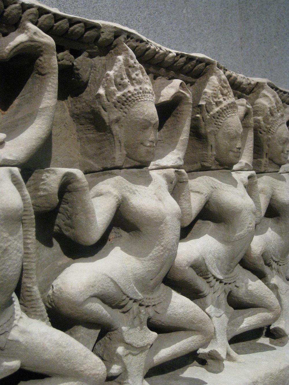 Apsaras, Ankor Thom, Cambodia, 16th C.? Guimet