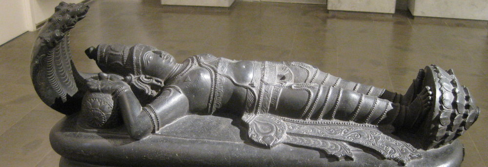 Vishnu lying on the serpent of eternity, Tamil Nadu 12-13th C., in the Guimet Museum (photo RYC)