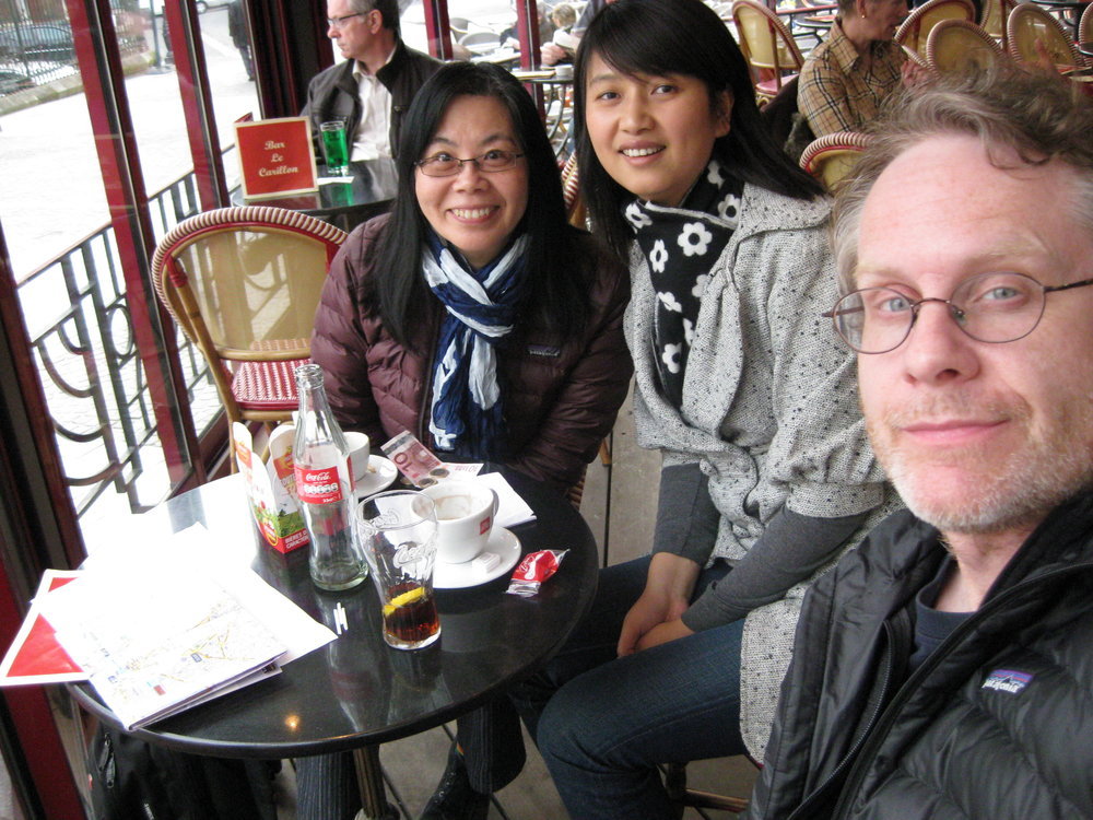 Ruby with friend from Alliance Française -- on a day-trip to Saint-Quentin
