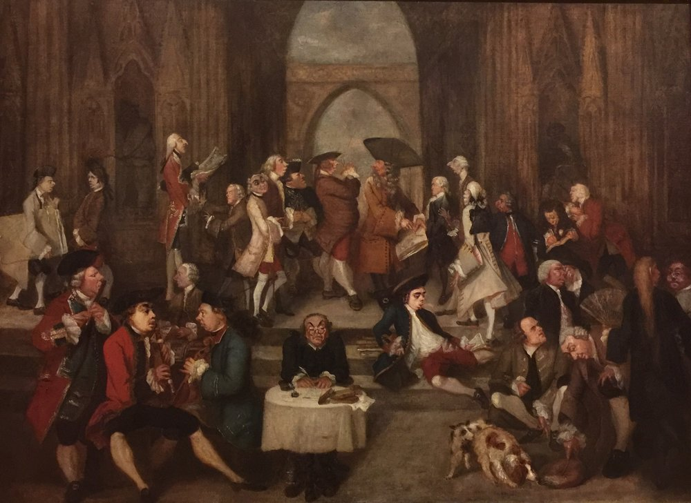 Joshua Reynold's  Parody of the School of Athens , 1751 (National Gallery). The details are hilarious ...