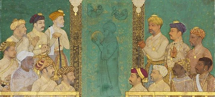 """Mugahl emperor Shah Jahan and his empress Mumtaz Mahal"" (source: Vinger World, Wikimedia Commons)."
