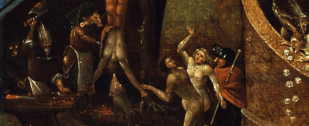 Photo by RYC (Heraklion, Crete); detail from Bosch's  Christ in Limbo , c.1575, Indianapolis Metropolitan Museum of Art (Wikimedia Commons)