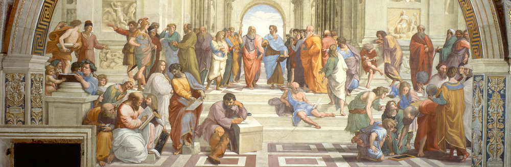 Above is Raphael's original  School of Athens , 1511