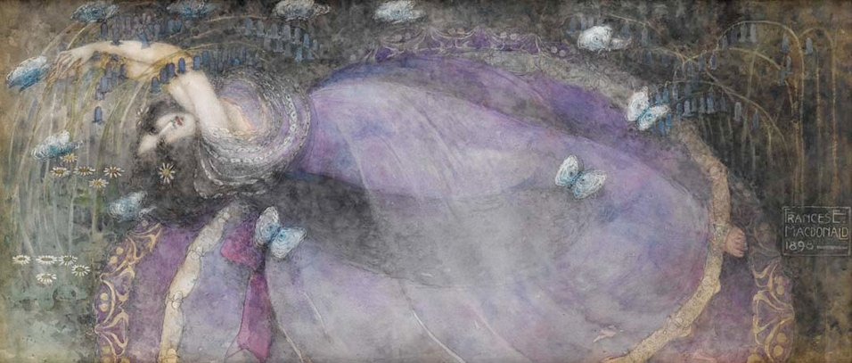 Ophelia  (1898) by Frances MacDonald