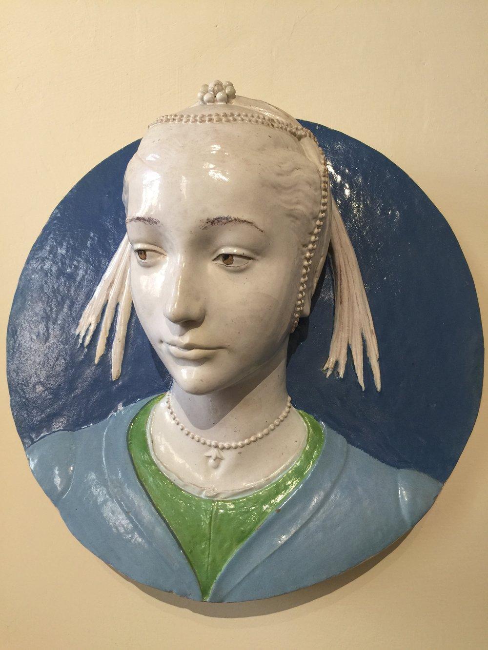 Portrait of a Young Noblewoman , c. 1465-70, Andrea della Robbia, Bargello Museum
