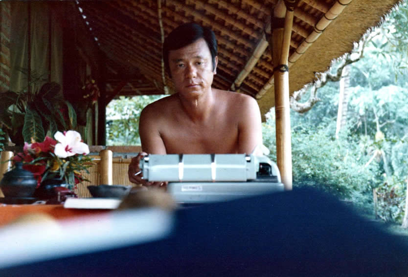 Goh Poh Seng in Bali, 1977 from https://www.esplanade.com/tributesg/literary-arts/goh-poh-seng