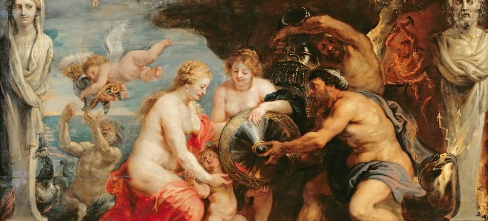 Thetis Receiving Armour for Achilles from Hephaestus  (Rubens, 1577-1640)