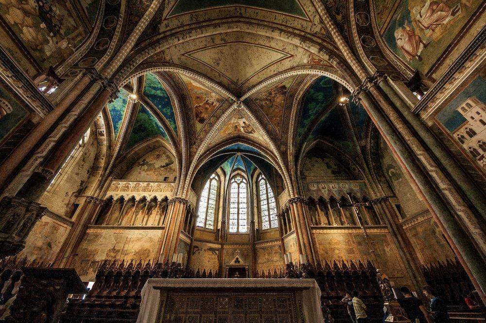 Basilica (superiore) di San Francesco, photo on Flikr, by   Giulia Piepoli     ( creativecommon )