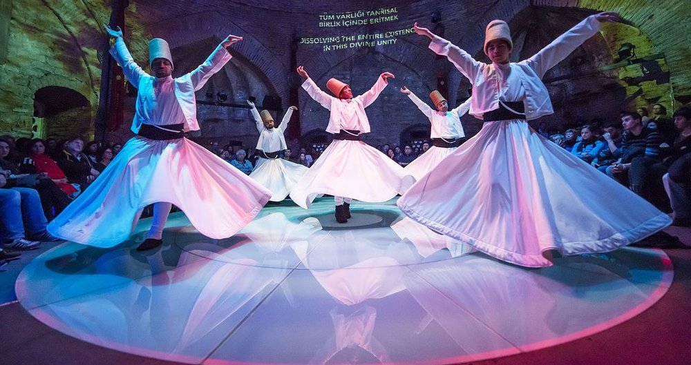 """Hodjapasha Culture Center is a beautifully restored Ottoman hamam (Turkish bath) in Istanbul's Sirkeci district now used for performances of the Mevlevi (whirling dervish) sema."" By  Kemal.kubbe  (Wikimedia Commons; image cropped by RYC)."