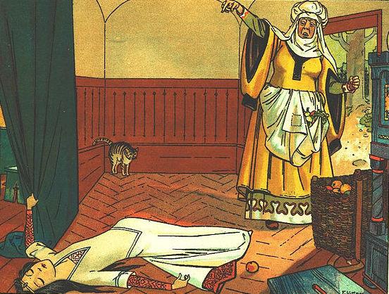 Franz Jüttner (1865–1925): Illustration from Sneewittchen, Scholz' Künstler-Bilderbücher, Mainz 1905 (Wikimedia Commons)