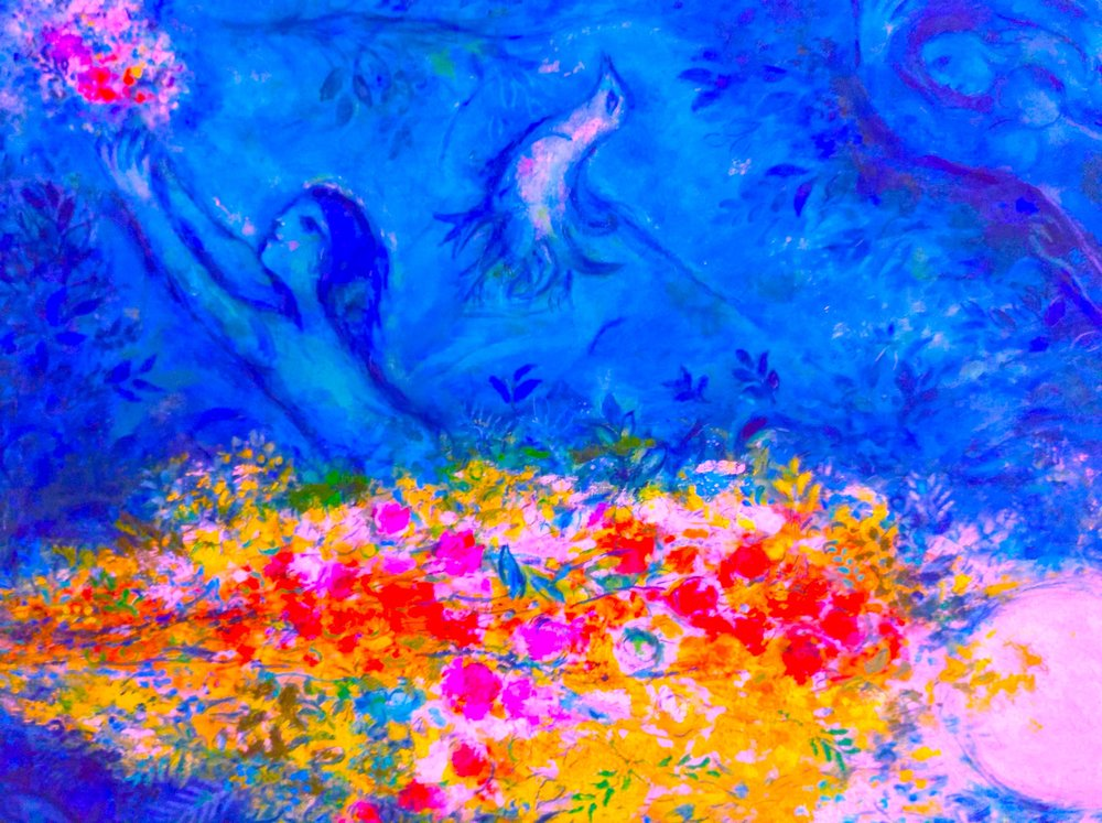 Chagall images from the Musée National Marc Chagall, Nice (photos, cropping, and colouring by RYC)