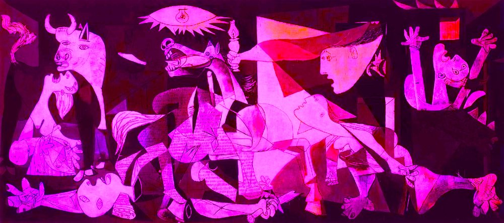 Guernica, 1937, Pablo Picasso (coloured by RYC)