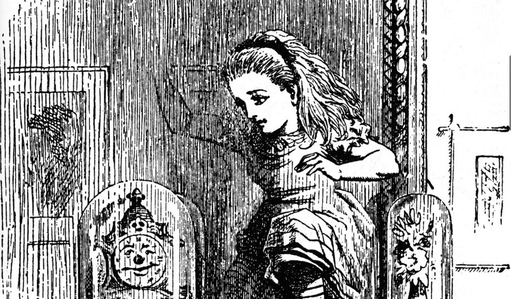 Through the Looking-Glass , illustration by John Tenniel, 1871 (cropped by RYC)