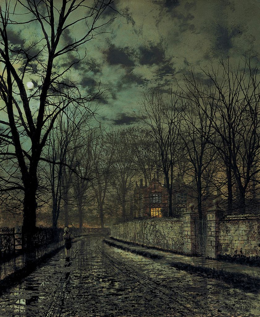 November, by John Atkinson Grimshaw, 1879 (Wikimedia Commons)