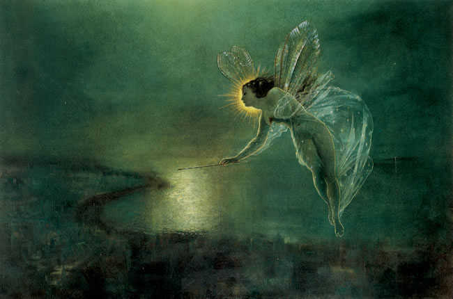Spirit of the Night, by John Grimshaw, 1879 (Wikimedia Commons)