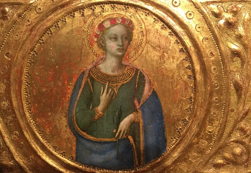 By Fra Angelico, from  Three Predella Panels , after 1491, in the Courtauld Gallery, London (Photo RYC)