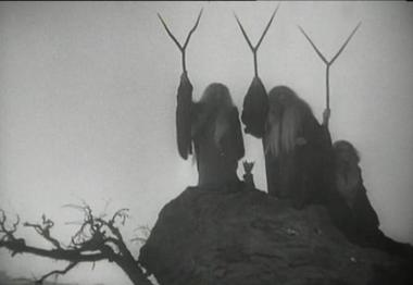 """""""Shot of three witches in Orson Welles 1948 film"""" (Wikimedia Commons)"""