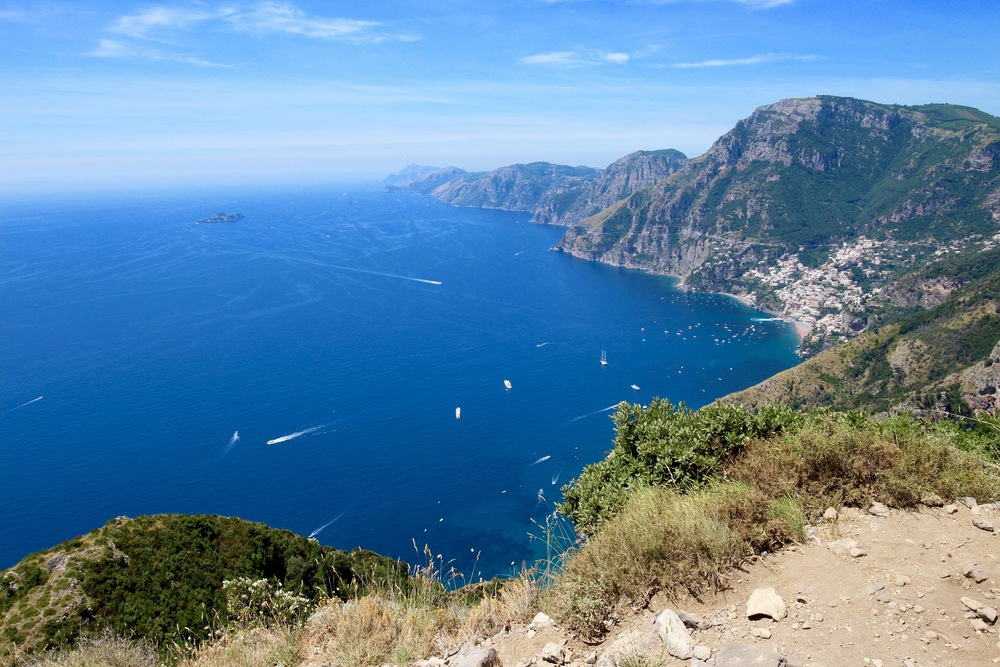 Looking west towards the Sorrento peninsula and Capri