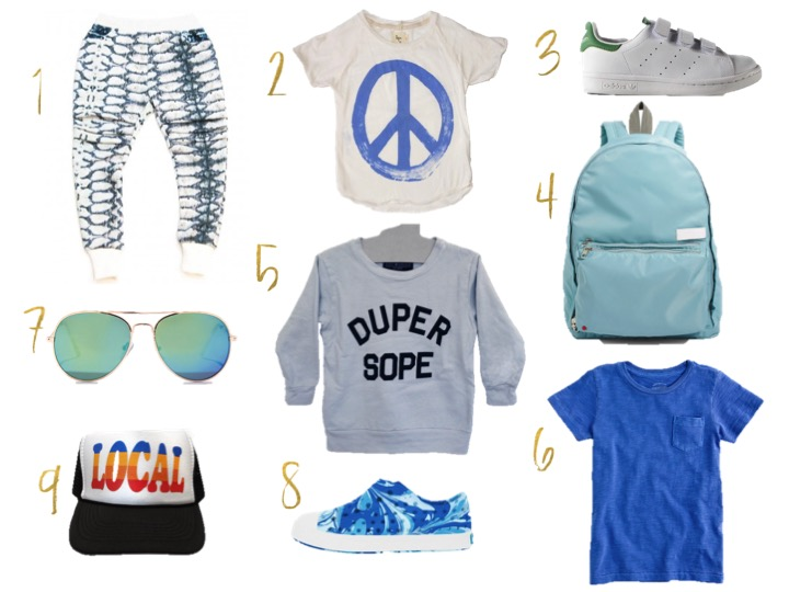 screw boys, tiny whales duper sope sweatshirt, state bags, adidas stan smith kid shoes, tiny whales local hat, blue marbled jefferson natives, aviator sunglasses, nico nico peace t-shirt