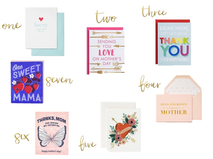 mother's day cards, sugar paper, rifle paper, hello lucky