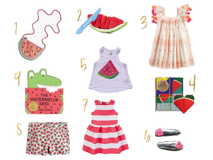 Watermelon, crew cuts, nellystella dress,