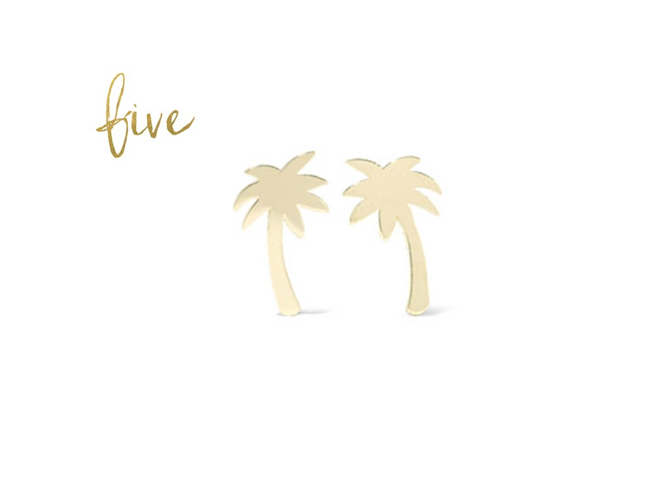 Jennifer Meyer Palm Earrings   NOTHING SAYS SUMMER LIKE PALM TREES.  AND WE  LOVE  JENNIFER MEYER'S