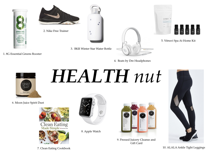 HOLIDAY GIFT GUIDE HEALTH NUT