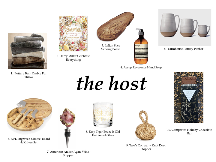 HOLIDAY GIFT GUIDE - THE HOST