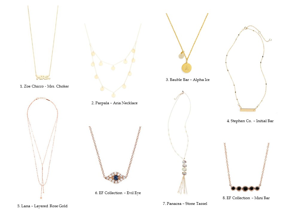 DELICATE DAINTY NECKLACES