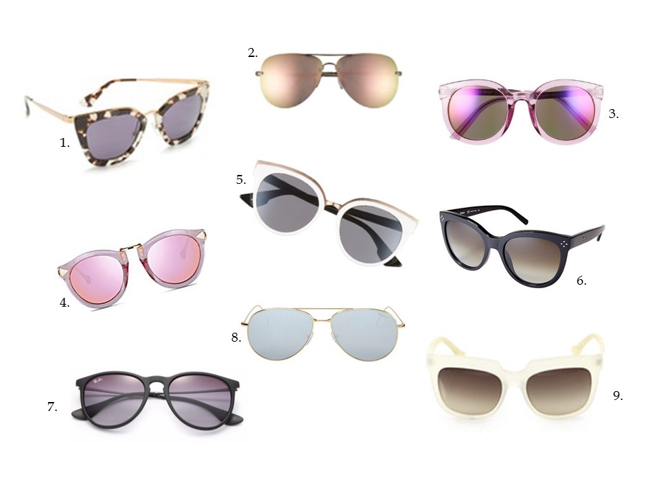 sunglasses mirrored cat eye sunnies shades