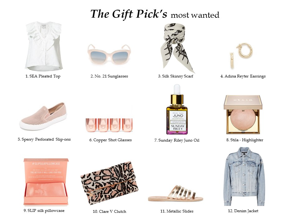APRIL'S EDITOR PICKS MONTLY DOZEN GIFT PICKS