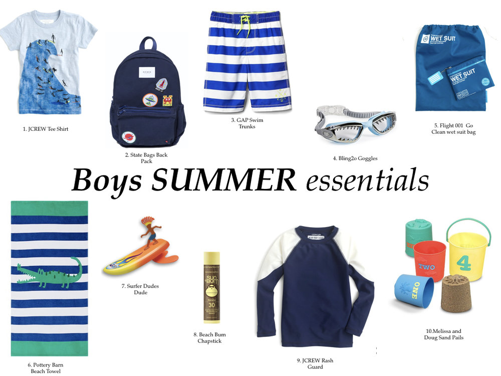 BOYS SUMMER ESSENTIALS