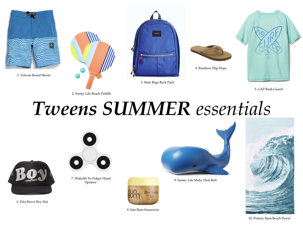 TWEEN BOYS SUMMER GUIDE