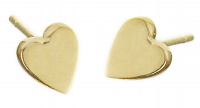 JENNIFER MEYER HEART STUD EARRINGS