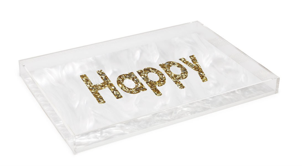 EDIE PARKER TRAY HAPPY
