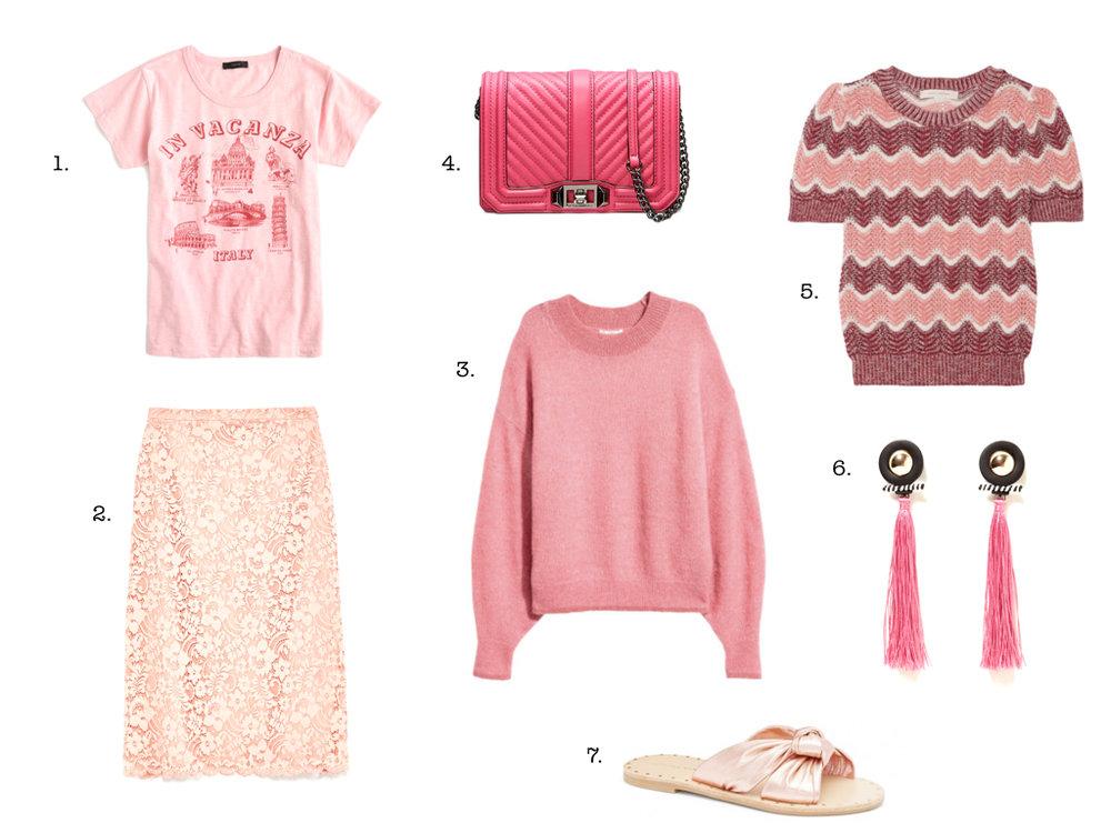 7 pink things
