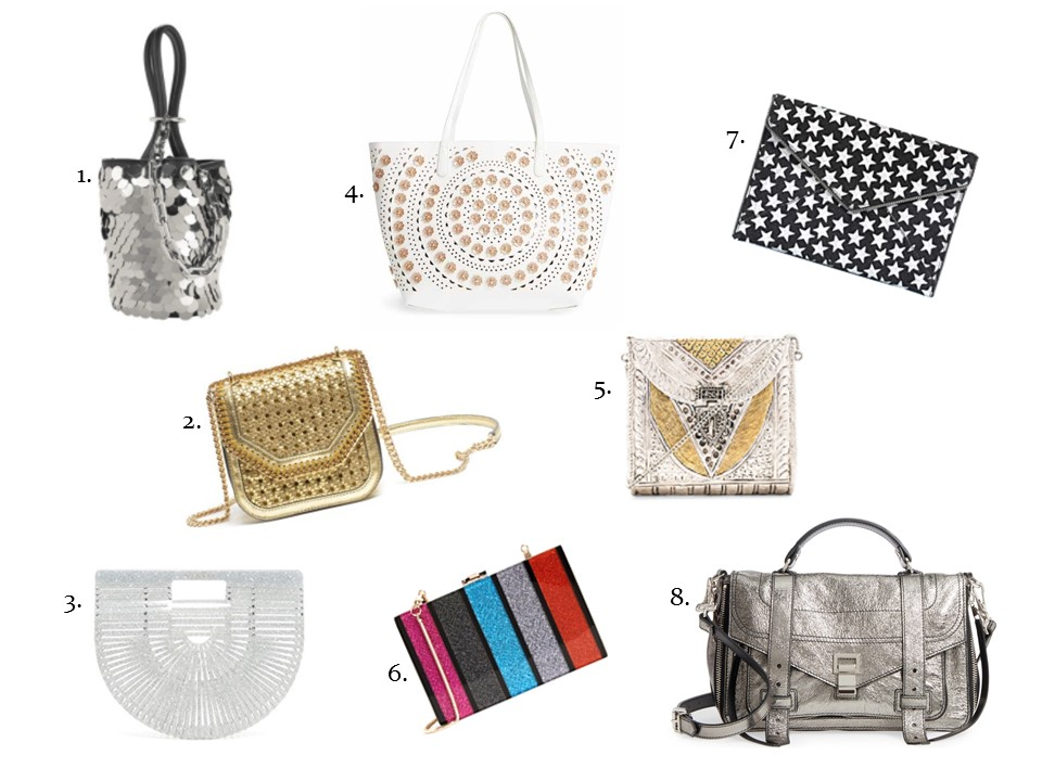 glitters is gold handbags