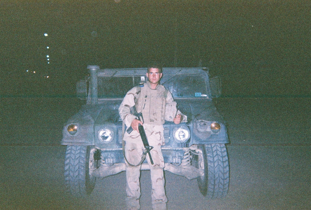 July 2003: Tyson on night patrol