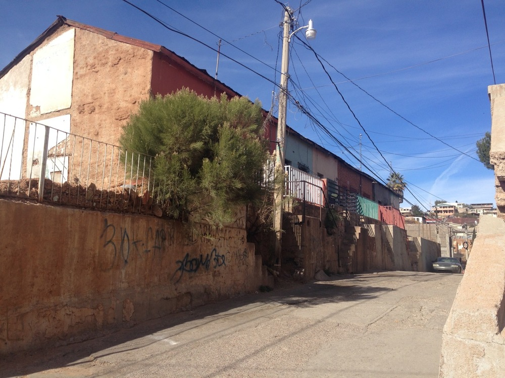 Gloria de la Rosa's neighborhood in Nogales, Mexico
