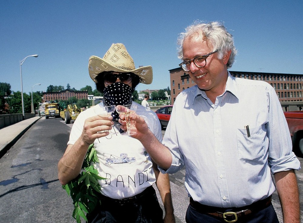 The Pothole Bandit and Bernie Sanders on the Winooski Bridge in 1986