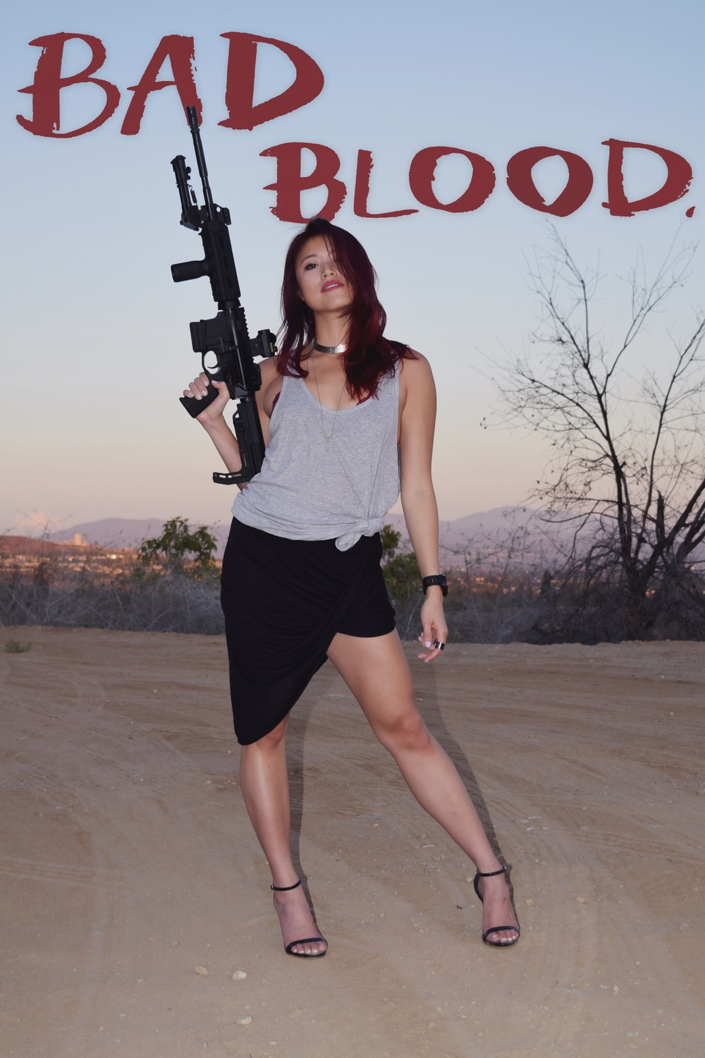 *All possible safety precautions were taken with the depicted weapons in this shoot under close supervision.*
