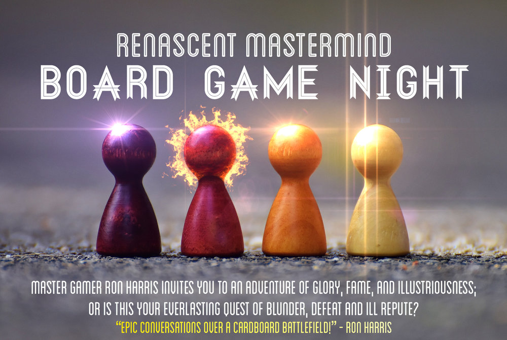"""""""Epic conversations over a cardboard battlefield!"""" - Ron Harris with Renascent Mastermind"""