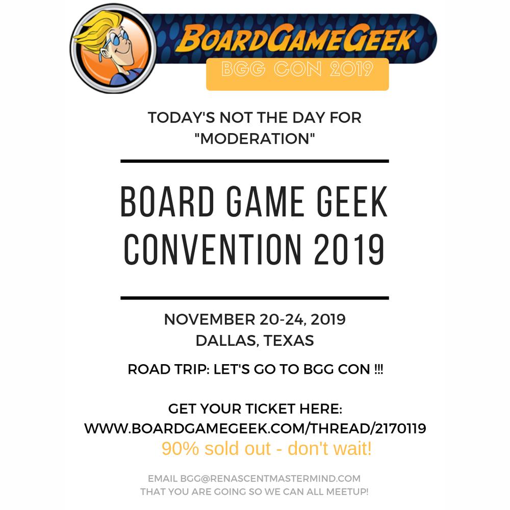 Board Game Geek Convention 2019 Road Trip