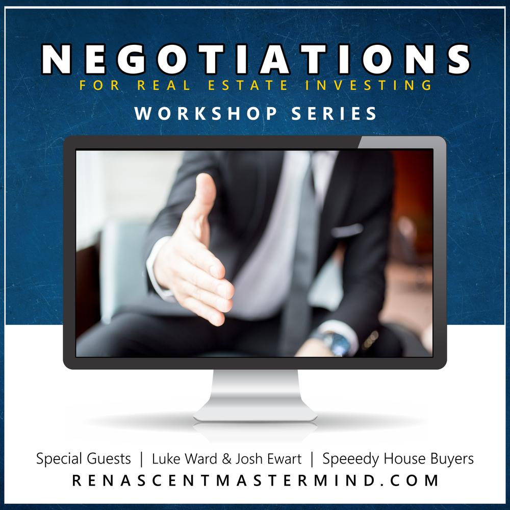 Negotiating Real Estate Deals   Workshop Series