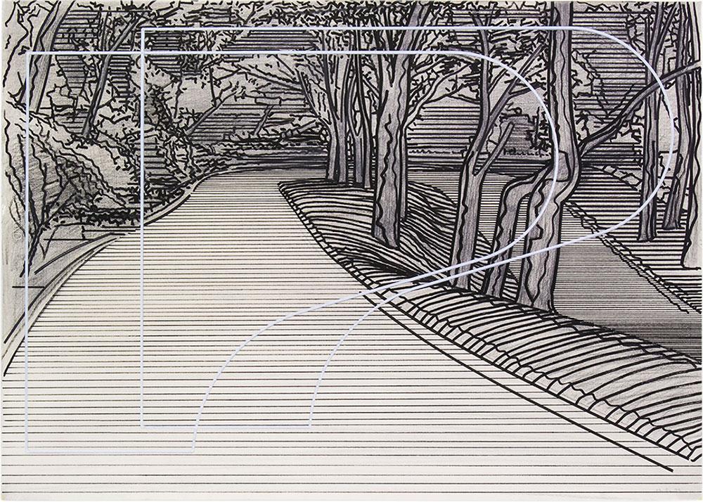 Tomoe 1 ,1999-2015 Graphite and tempera / paper, 50 x 70 cm