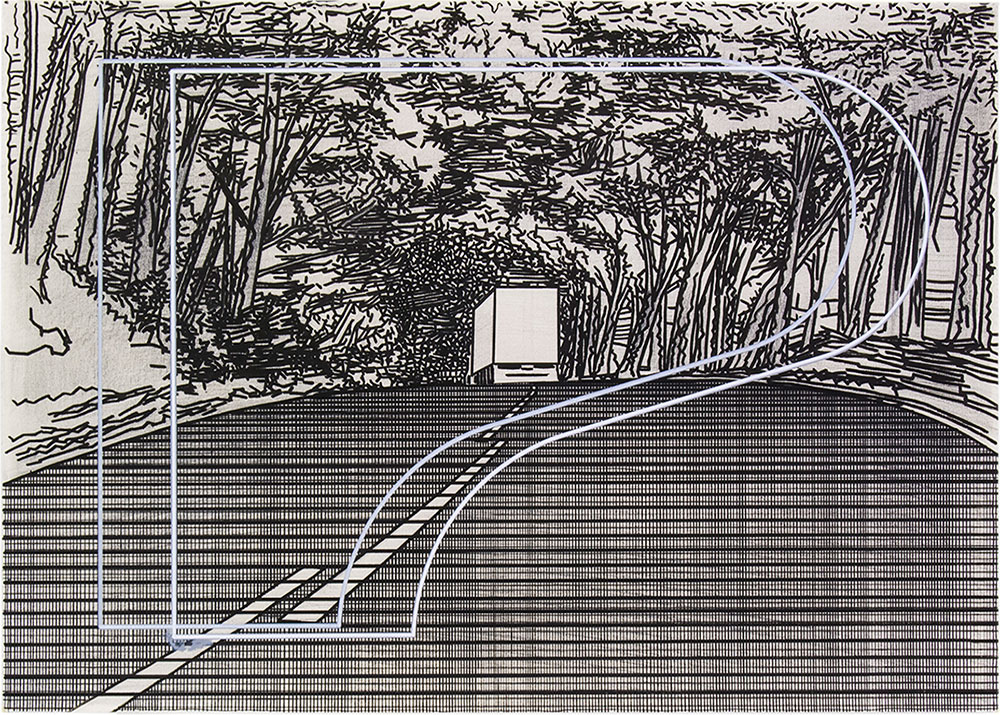 Tomoe 4 ,1999-2015 Graphite and tempera / paper, 50 x 70 cm