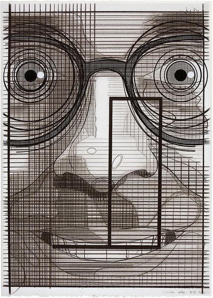El turista del espacio 16 ,2013-2014 Lápiz de color / papel, 70 x 50 cm