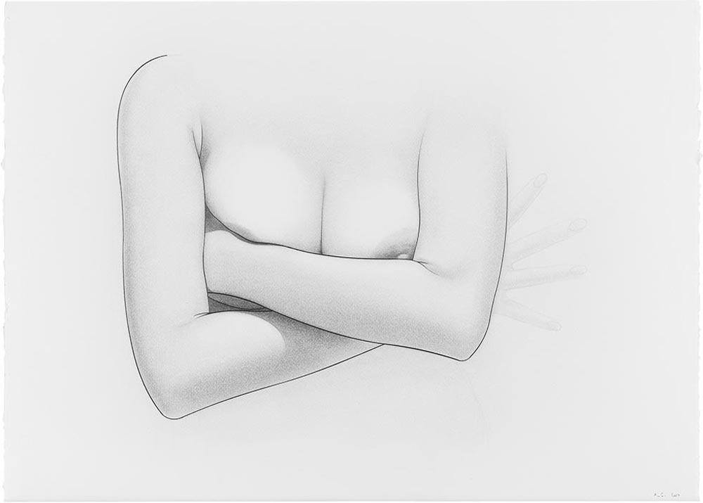 En el blanco 5, 2007. Graphite / paper. 50 x 70 cm
